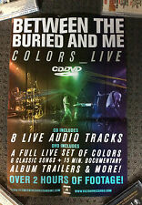 BETWEEN THE BURIED AND ME POSTER Colours Live Promotional Poster RARE BTBAM