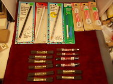 #1 of 7 LOT OF NOS SEWING MARKER PENCILS, BRAIDED ELASTIC, OLD HICKORY, IMPERIAL