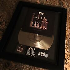 KISS Dressed To Kill Platinum Record Disc Album Music Award  RIAA Gene Simmons