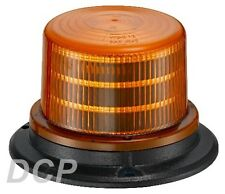 BEACON WARNING FLASHING SAFETY LED 12V 24V COMPACT  ECE REG 10 - 3 BOLT MOUNT