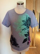 Gerry Weber Top Size 12 BNWT Grey Mint Pink Navy Floral RRP £55 Now £25