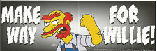 The Simpsons Make Way For Willie Bumper Sticker