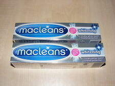 2 x MACLEANS WHITENING TOOTHPASTE VISIBLY WHITER TEETH & ENAMEL PROTECTION 100ML