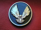 ~ WILD EAGLE HARLEY DAVIDSON EMBLEM Chrome Metal *NEW & UNIQUE!* Fat Boy Softail