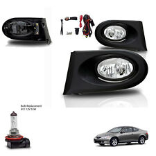 New 2002-2004 Acura RSX Clear Fog Lights - Wiring Kit Included & Light Bulb