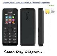BRAND NEW NOKIA 105 BLACK UNLOCKED MOBILE PHONE CHEAP BASIC SIM FREE