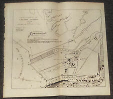 1905 Dredging of Tacoma Harbor Washington State Scetch Map