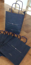 "5-Authentic Tommy Hilfiger 10.5"" Carrier Paper Raffia Handle Gift Bags New!"