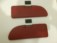 New Pair of Fiat 500 600 Red Sun Visors Complete With Mounting Clips - Kitcar