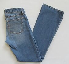 "Gap 1969 Jeans 27 4 R Sexy Boot Cut Light Blue Low Rise Stretch Denim 32"" sp2010"