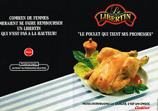 PUBLICITE ADVERTISING 035  1986  MAGASINS CASINO  POULET le LIBERTIN (2p)