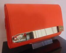 STUNNING LARGE OVERSIZE ORANGE CLUTCH BAG HANDBAG ***UK SELLER*