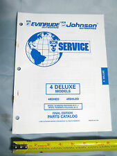 Johnson Evinrude 4HP Deluxe  Model Outboard Boat Motor Parts Catalog 437463