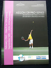 TENNIS – DAN EVANS - SHREWSBURY AEGON MENS FEBRUARY - LADIES SEPT 20014