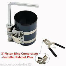 "3"" Piston Ring Compressor + Installer Ratchet Plier Remover Expander Engine Tool"