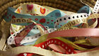 PACK OF ASSORTED GROSGRAIN/SATIN/ORGANZA RIBBON-Many different designs