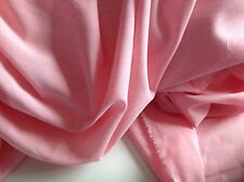 "NEW Light Pink 100% Cotton Denim Chambray Fabric 61""156cm Shirt Dress Jeans Bell"