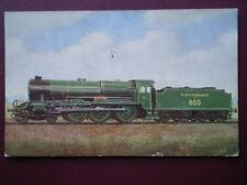 POSTCARD SOUTHERN RLY EXPRESS LOCO NO 850 'LORD NELSON'