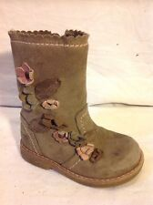 Girls Next Brown Leather Boots Size 7