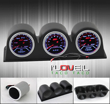 "2"" JDM RACING GAUGE - OIL TEMPERATURE + TACHOMETER + WATER TEMP + 52MM POD HOLDS"