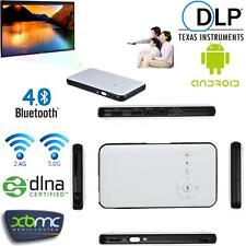 WiFi Mini Mobile Cinema DLP Projector+Smart TV Box KODI For IOS Android Phone PC