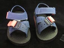 Red Blue & Black quick on off sandals size 2 fits baby/doll 3-6 months crib shoe