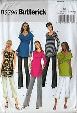 Maternity Set Of Ruched Draped Tunic Tops & Pants (8-16) Sewing Pattern