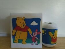 VGUC! Disney Winnie the Pooh & Piglet kleenex/tissue & toothbrush cup holder