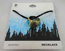 New DC Comics Wonder Woman Class Ring Pendant On Black Cord Necklace Set