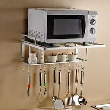 SPACECARE Double Bracket Alumimum Microwave Oven Wall Mount Shelf With Removable