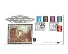 10/1/1990 UK GB FDC - Penny Black Anniversary - 150th Ann. of Stanley Gibbons