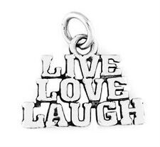 STERLING SILVER LIVE LOVE LAUGH TALKING CHARM/PENDANT