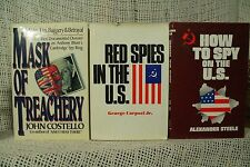 lot 3 old books How to Spy on the U.S. Red spies in the US Mask of Treachery