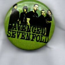 AVENGED SEVENFOLD BUTTON BADGE - AMERICAN HEAVY METAL BAND -NIGHTMARE -AFTERLIFE