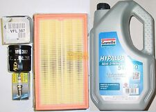 Ford Ka 1.3 96 02  Service Kit Oil & Air Filters  Bosch Spark Plugs 5L 5w30 Oil