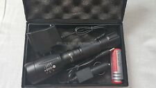 UltraFire Military Grade Tactical Flashlight Charger & Battery SEAL Torch 2000