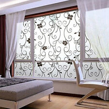 Removable UV Proof Dainty Flower Leaf Vine Frosted Glass Window Sticker Decal