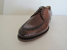 New Gucci Men's Brown Crocodile Leather Lace-up Shoes US-9.5(G-8.5)Made in Italy