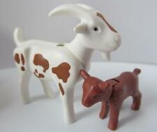 Playmobil White/Brown billy goat & kid NEW farm/petting zoo/country animals