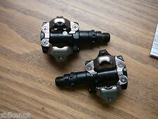 Shimano PD-M520 SPD Mountain Bike Clipless Bicycle Pedals No Cleats Black NEW