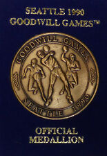 1990 Goodwill Games Seattle Official Medallion Challenge Coin Medal Basketball