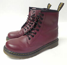 J7226 Pre Owned Women's Dr.Martens Delaney Cherry Red Rogue Boot 5 M
