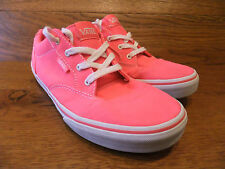 Vans Attwood Vivid Pink Canvas Trainers Plimsolls Size UK 4.5 EUR 37
