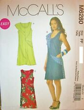 Miss McCall 6280 Pattern Retro Style A-Line Dress UNCUT Plus Size 16-18-20-22