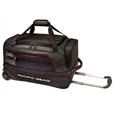 "Pacific Gear Drop Zone Black 22"" Carry-on Wheeled Sport Duffel Bag Light Roller"