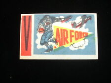 1961 Topps Flocked Stickers Inserts Air Force College Football V