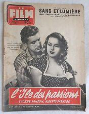 FILM COMPLET N° 477 L'ILE DES PASSIONS YVONNE SANSON DANIEL GELIN ZSAS ZSA GABOR
