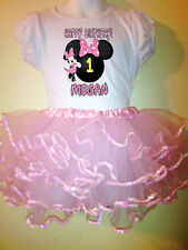 Minnie Mouse Party Birthday Dress 2pc tutuset 1T,2T,3,4,5,6,7,8,9 pink