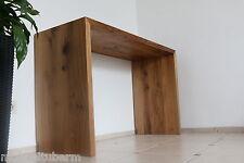Designer Tisch aus Eiche Wild massiv Holz NEU Beistelltisch Computertisch Hocker