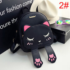 Fashion Womens Cute Cat School Bags Backpack Travel Rucksack Shoulder Bag New